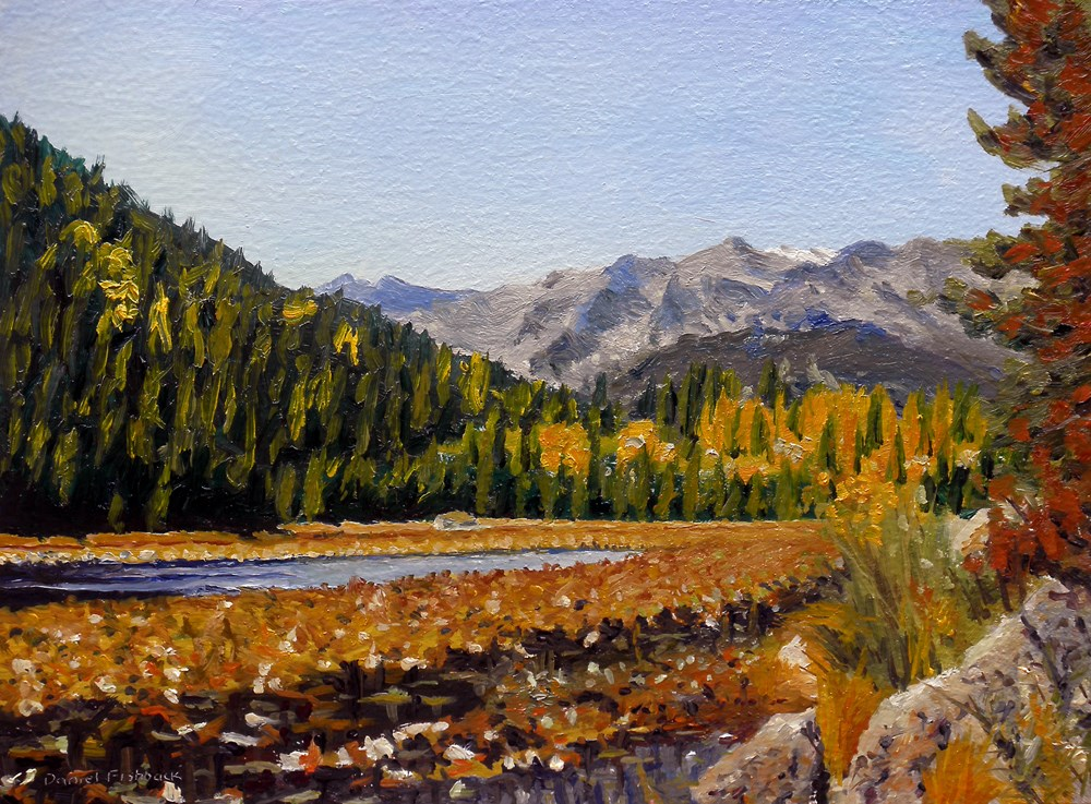 """Estes Mountain Lake"" original fine art by Daniel Fishback"
