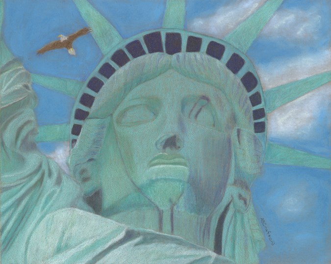 """Lady Liberty"" original fine art by Arlene Crafton"