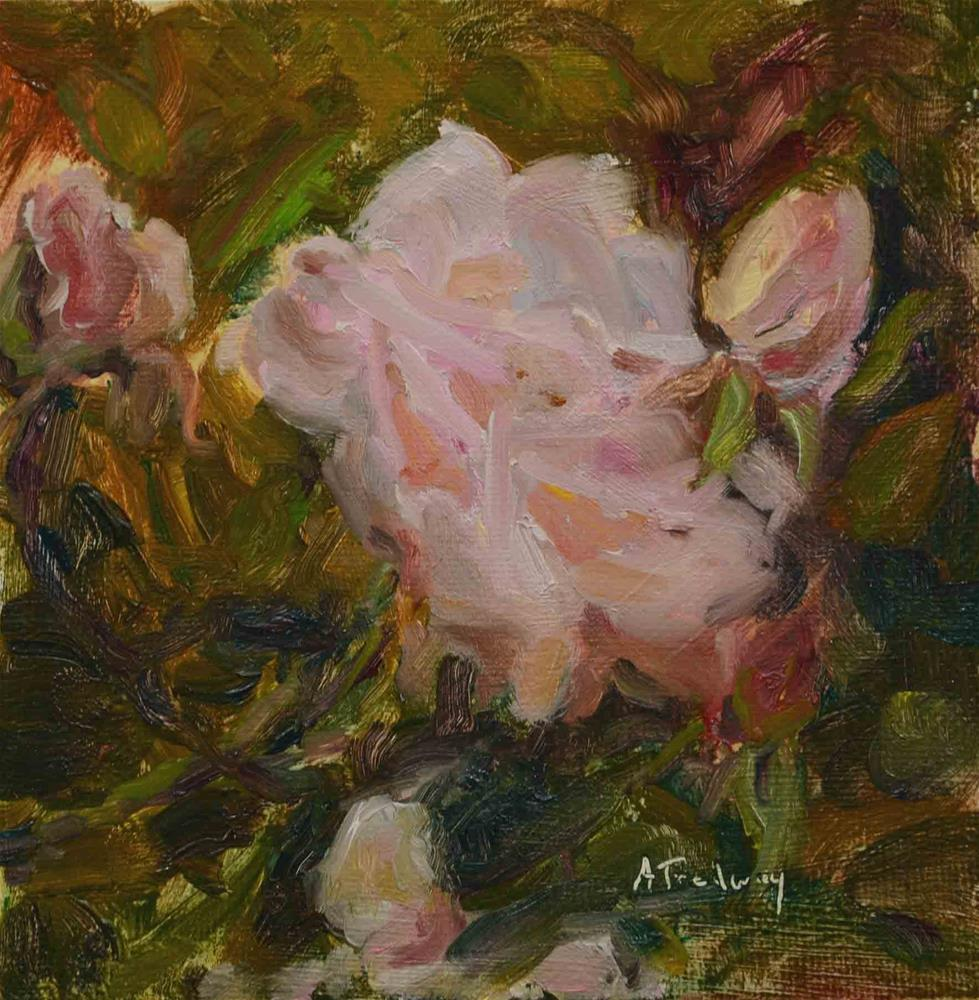 """Pink Roses"" original fine art by alicia tredway"