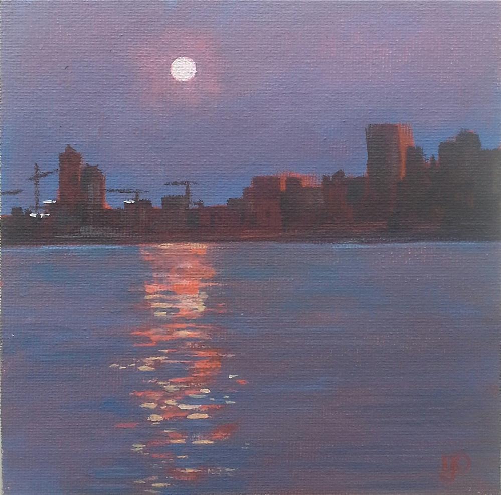 """""""Sun And Moon"""" original fine art by Leanne Owen"""