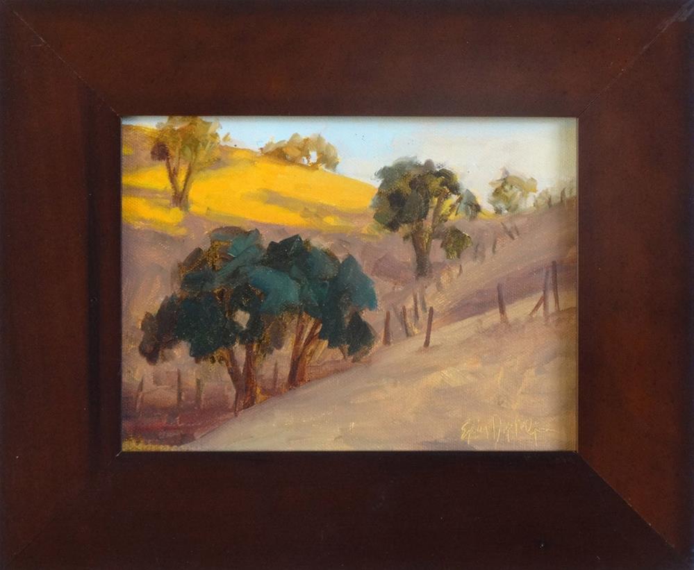 """Sunny Hilltop"" original fine art by Erin Dertner"