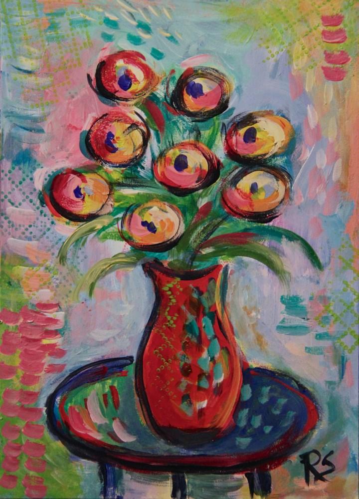 """""""Summer Flowers #1"""" original fine art by Roberta Schmidt"""