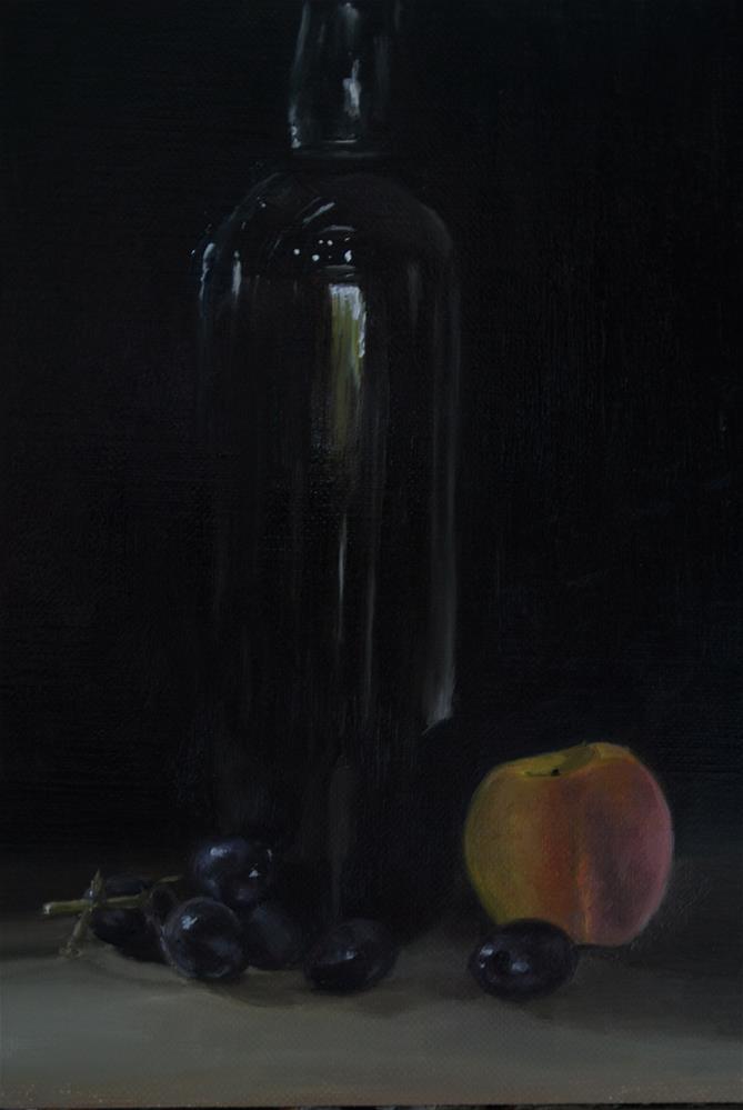"""Port and Peach"" original fine art by James Coates"