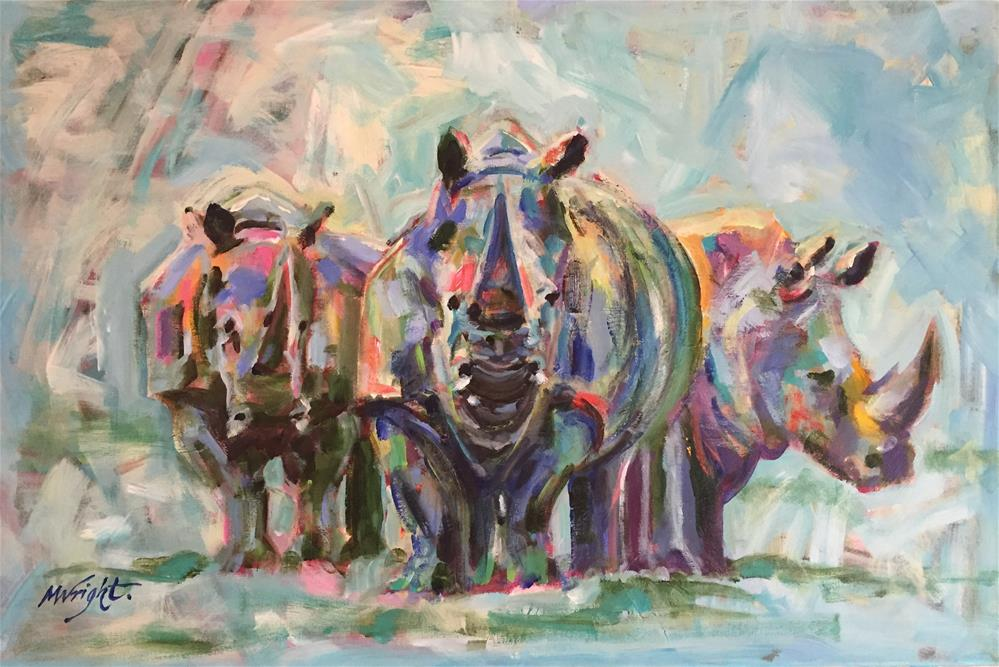 """Three's A Crowd"" original fine art by Molly Wright"