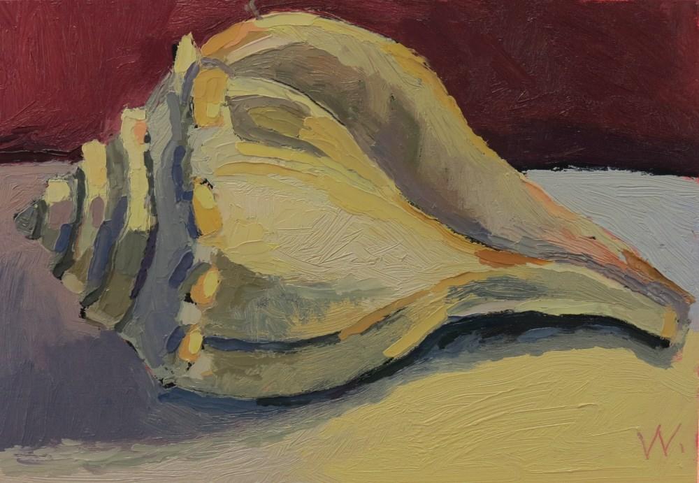 """Avalon Conch"" original fine art by Joan Wiberg"