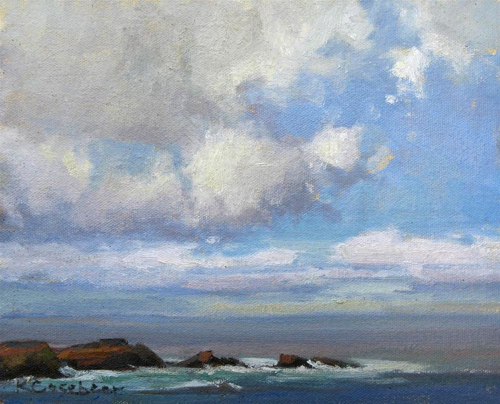 """Fair Weather Clouds"" original fine art by Kim Casebeer"