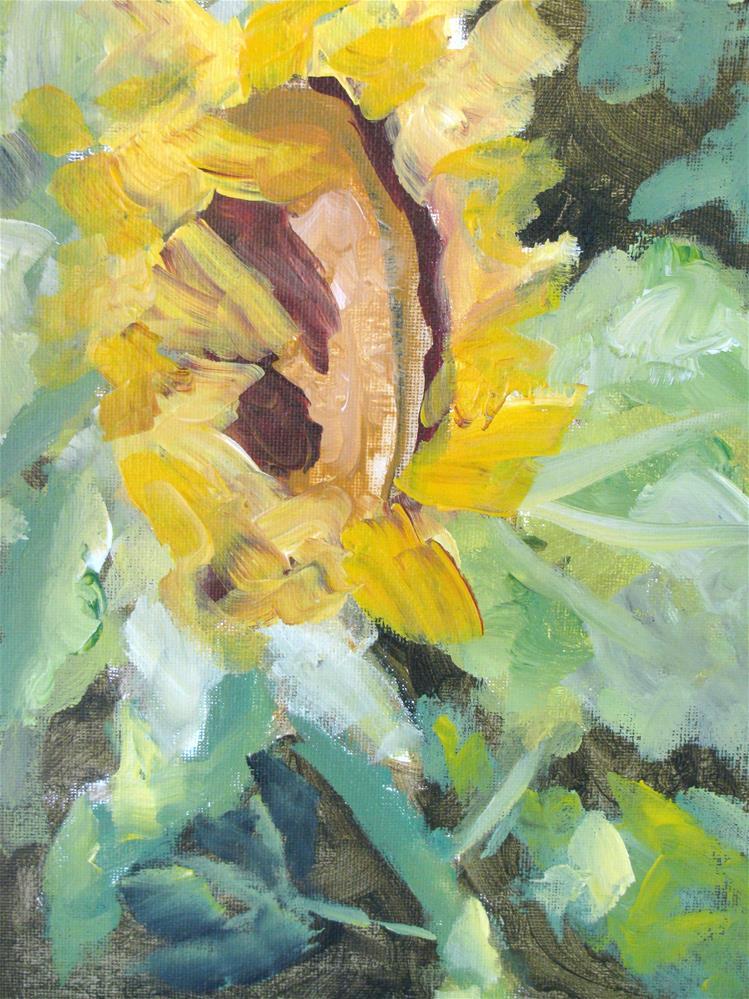 """Sunflower"" original fine art by Susan Elizabeth Jones"