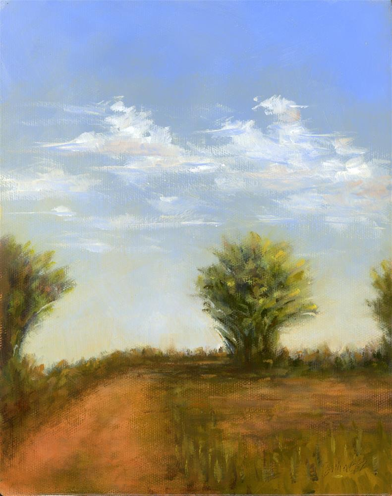 """Road to the Levy II"" original fine art by Susanne Billings"
