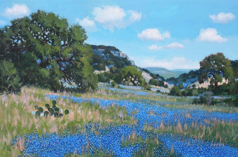 """Blue in Texas"" original fine art by David Forks"