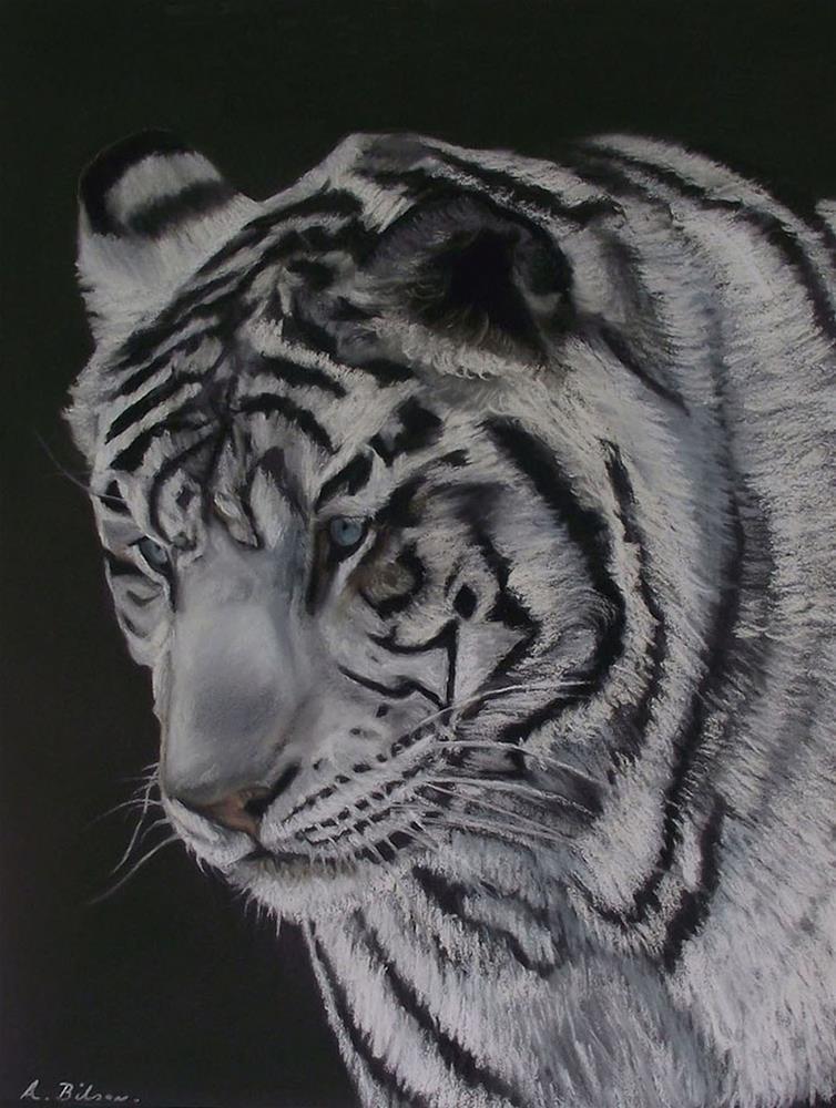 """White Bengal Tiger"" original fine art by Amanda Bilson"