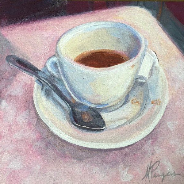 """Coffee and Formica"" original fine art by Mary Pargas"
