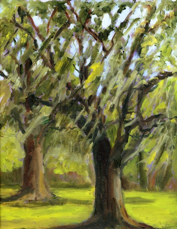 """Great Oaks"" original fine art by Sharon Yarbrough"