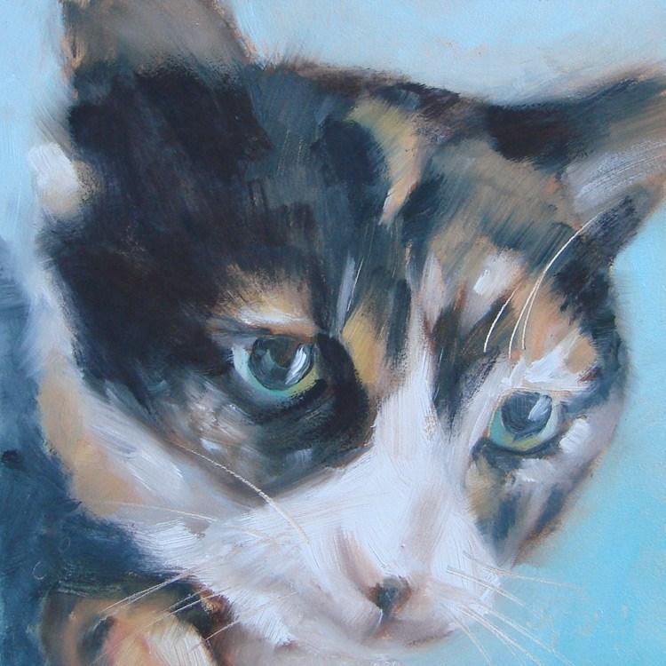 """Miss Ella"" original fine art by Laura  Buxo"