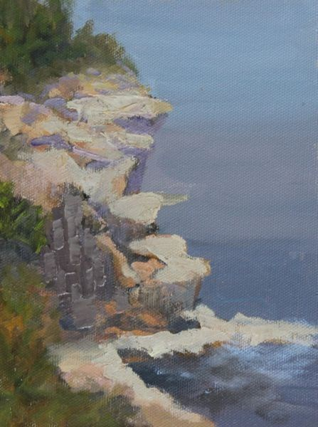 """Landscape, Seascape Oil Painting Maine-Study #6 by Colorado Landscape Artist Susan Fowler"" original fine art by Susan Fowler"