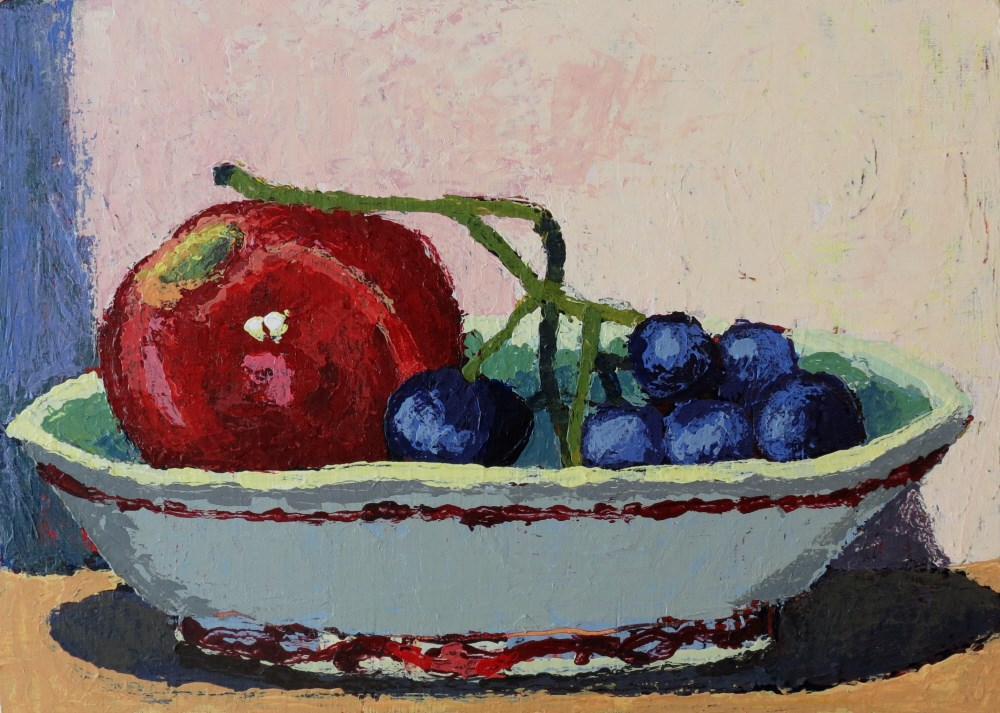 """Helen's Bowl"" original fine art by Joan Wiberg"