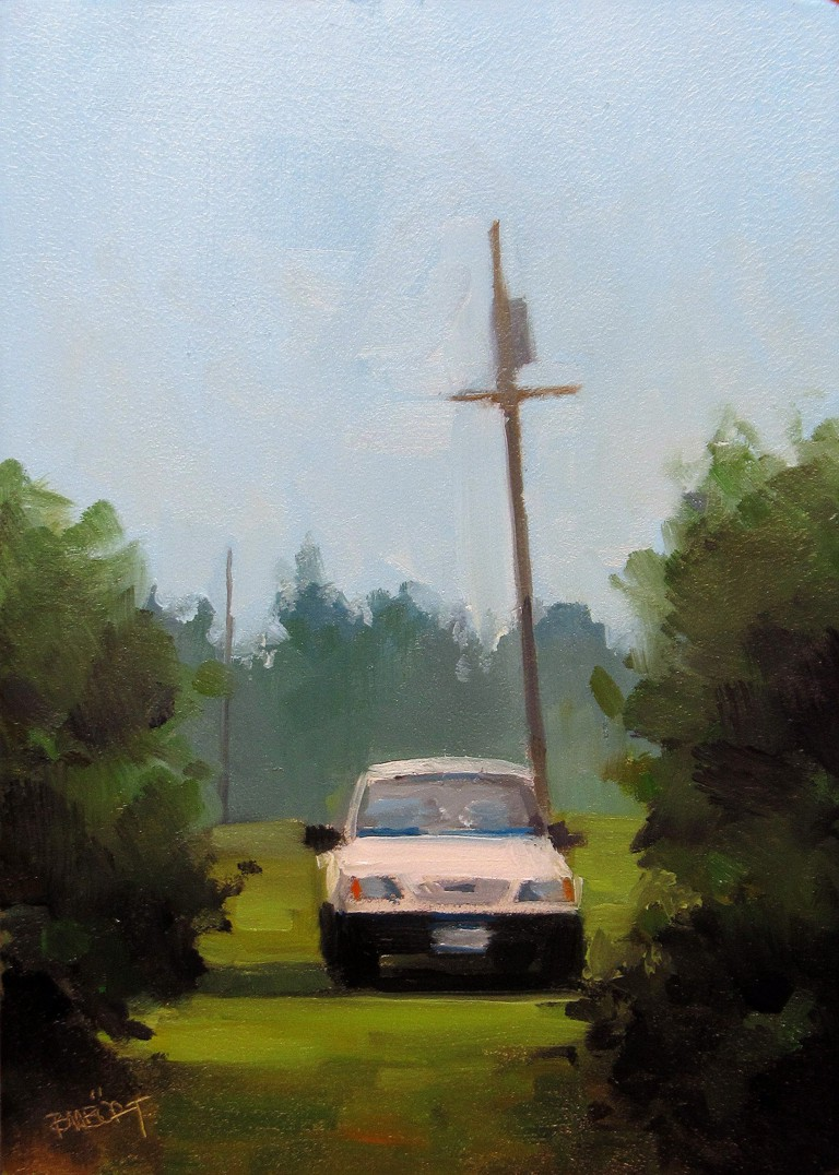 """ART 4 DIAPERS (DAILY DIAPER #172) Parked"" original fine art by Brian Burt"