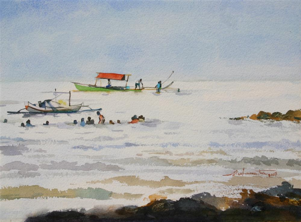"""Cebu Beach, Philippines"" original fine art by Ann Buenaventura"