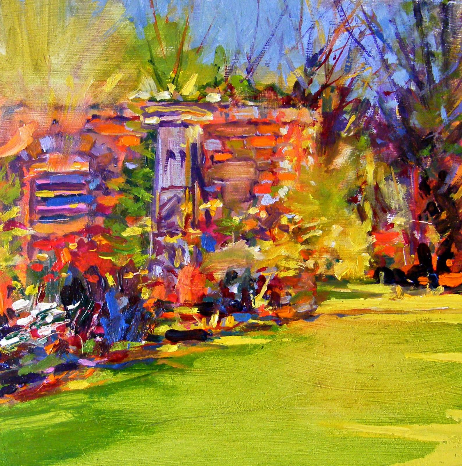 """""""Loose in the Garden"""" original fine art by Ken Devine"""