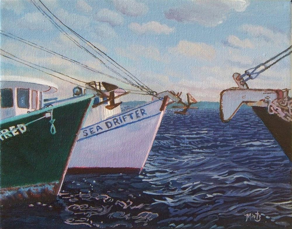"""Anchor to Anchor"" original fine art by Alan Mintz"