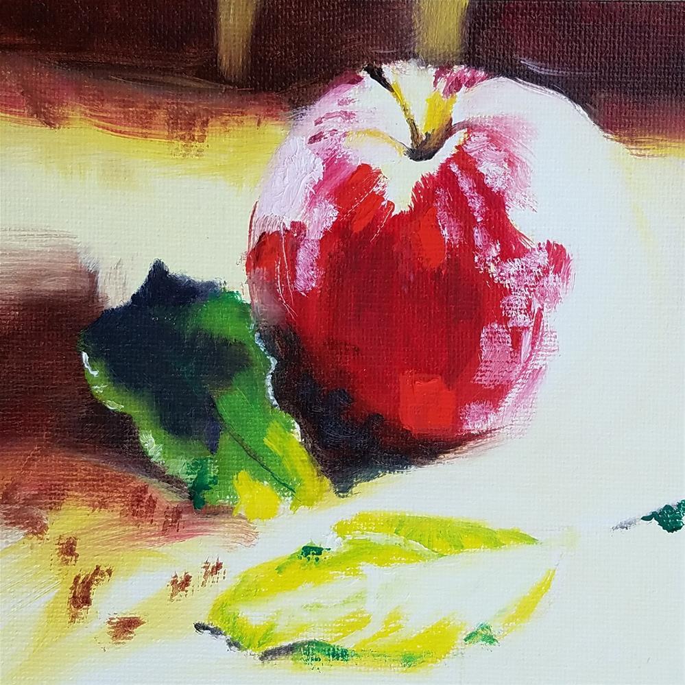 """""""Apple Portrait"""" original fine art by Anne Pekie"""