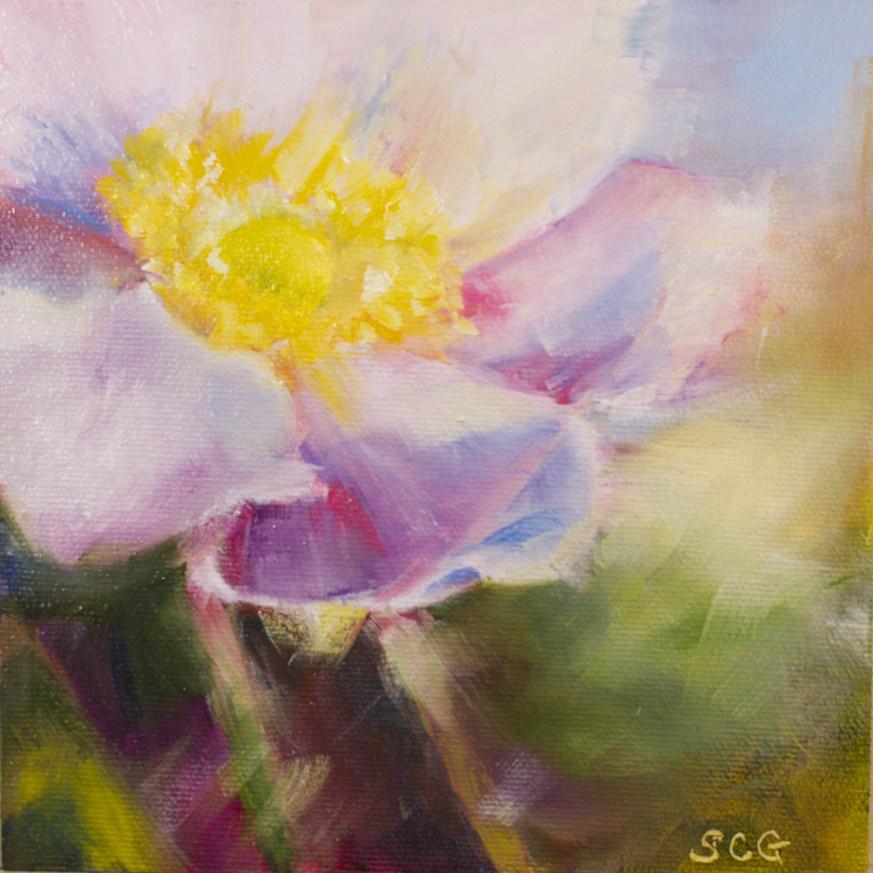 """""""Anemone"""" original fine art by Sue Churchgrant"""