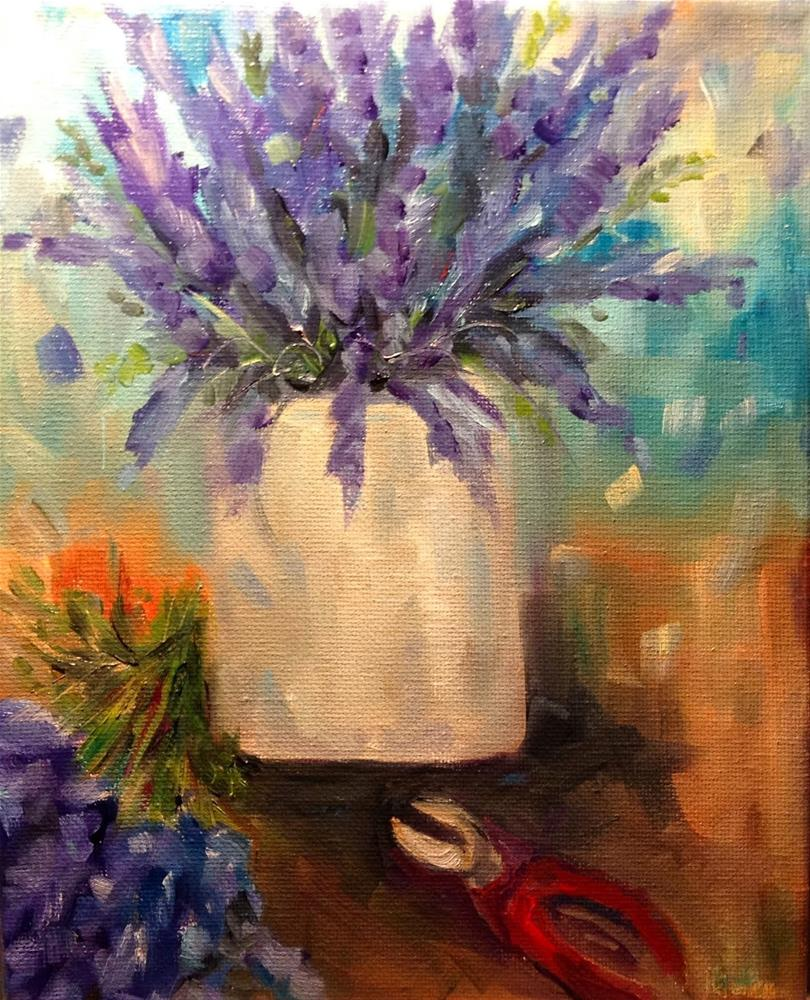 """Fast and loose Lavender"" original fine art by Maggie Flatley"