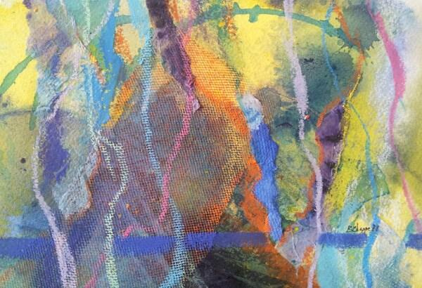 """Line Play"" original fine art by Becky Chappell"