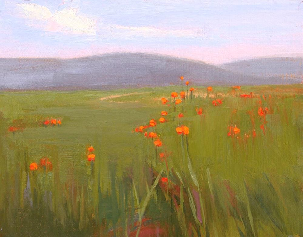 """#58 Poppies going home"" original fine art by Nancy Wallace"