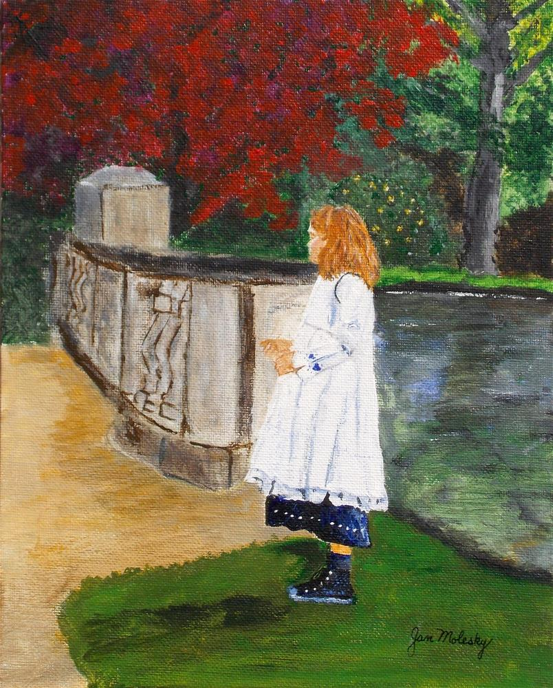 """Marissa - Waiting for Dad"" original fine art by Jan Molesky"