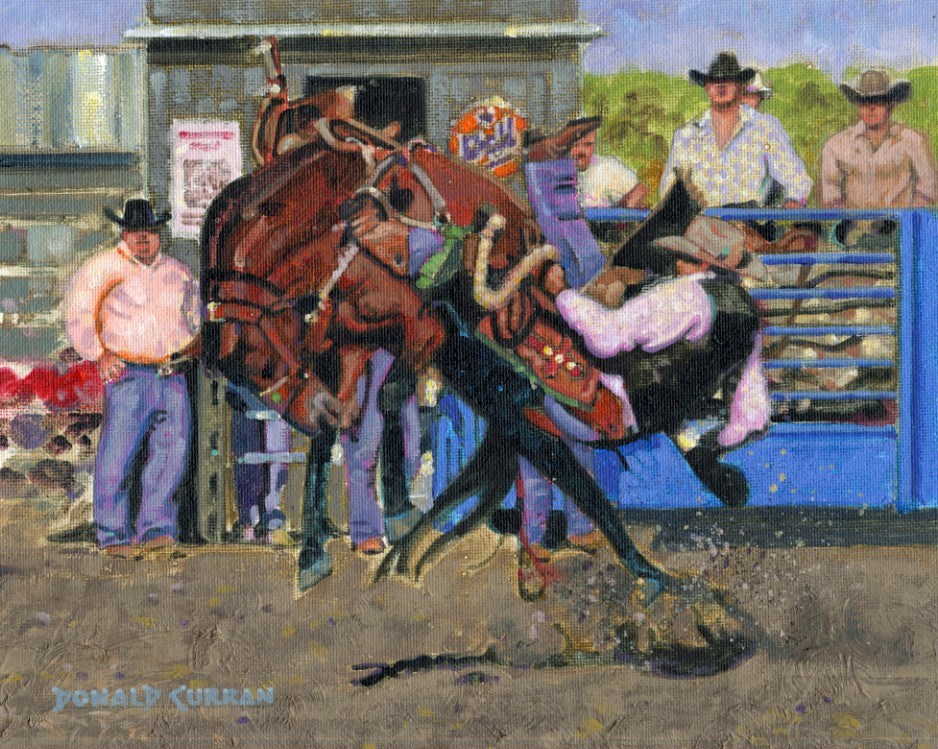 """Rough Ride"" original fine art by Donald Curran"