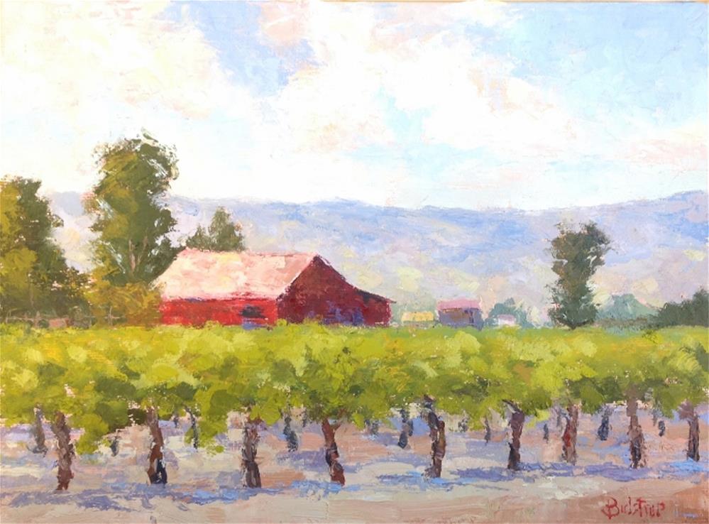 """Red Barn - Napa"" original fine art by Mark Bidstrup"