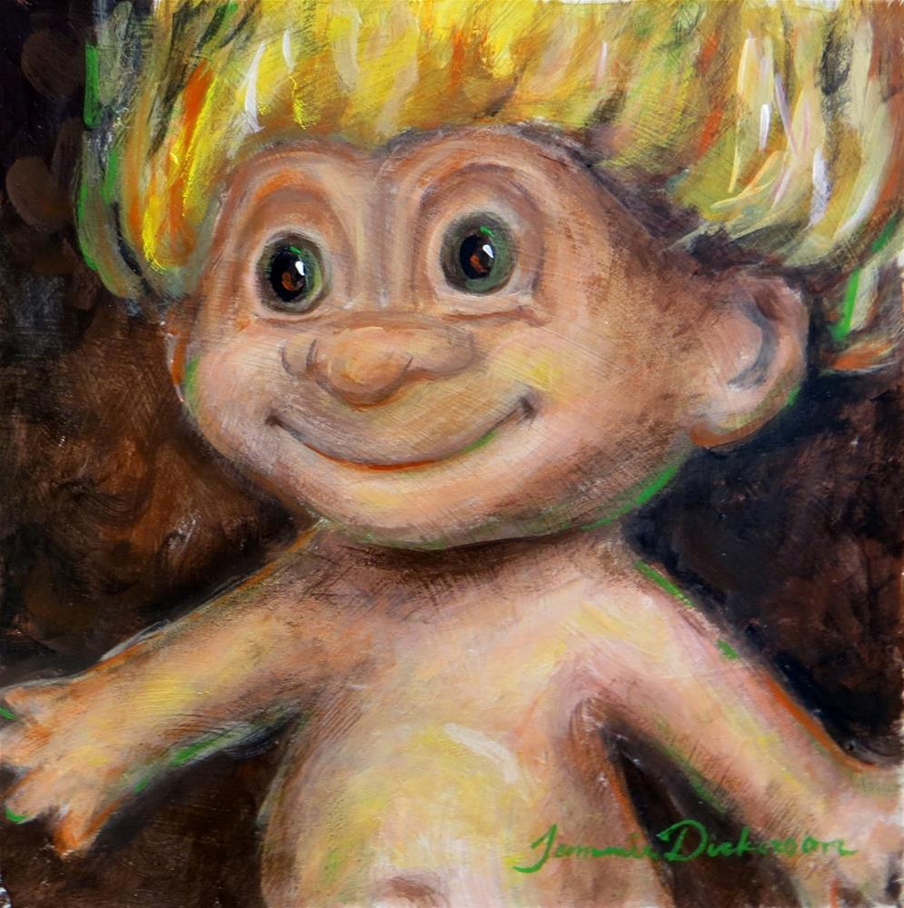 """Golden Hair Troll"" original fine art by Tammie Dickerson"