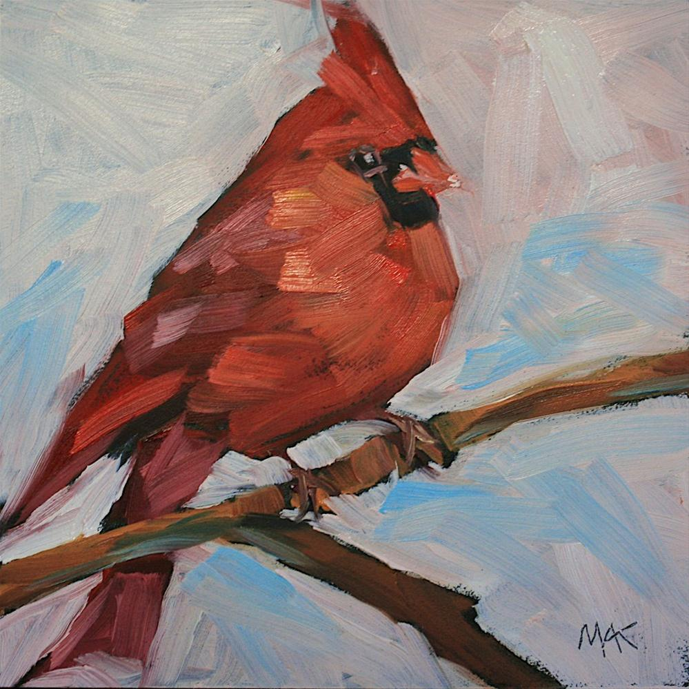 """Cardinal"" original fine art by Mary Anne Cary"