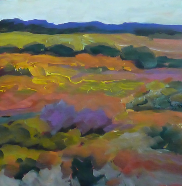 """83 PURPLE FIELDS"" original fine art by Dee Sanchez"