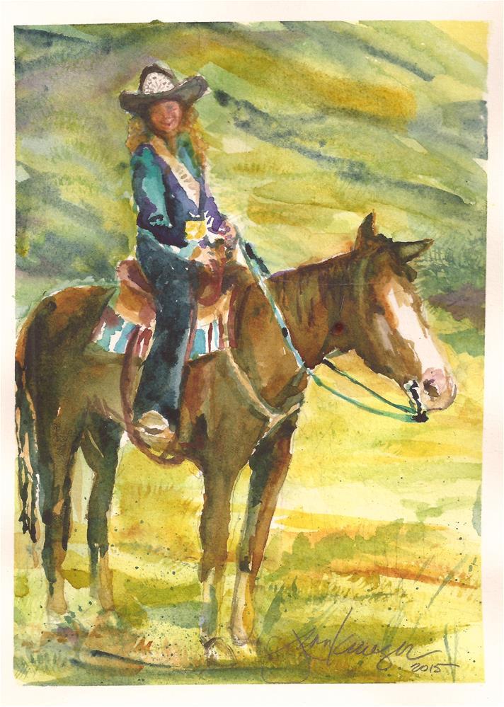 """Rodeo Princess"" original fine art by jean krueger"