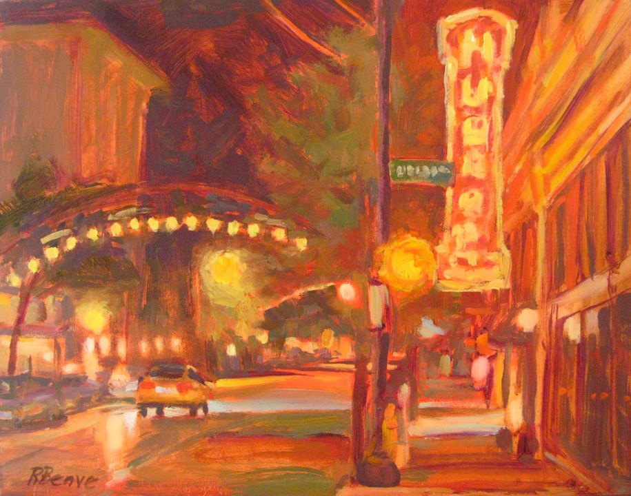 """Glowing in the Night"" original fine art by Robie Benve"