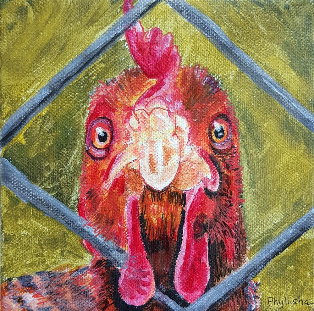 """""""Let Me Out of Here!"""" original fine art by Phyllisha Hamrick"""