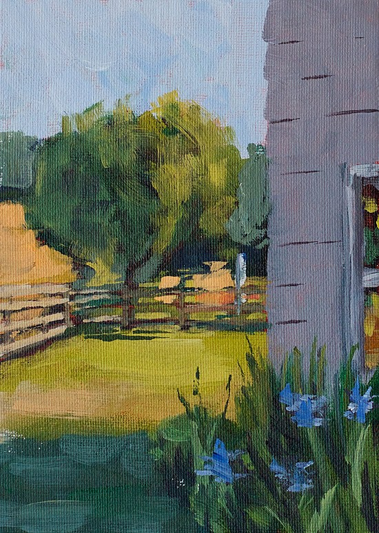"""Around Back"" original fine art by J. Farnsworth"