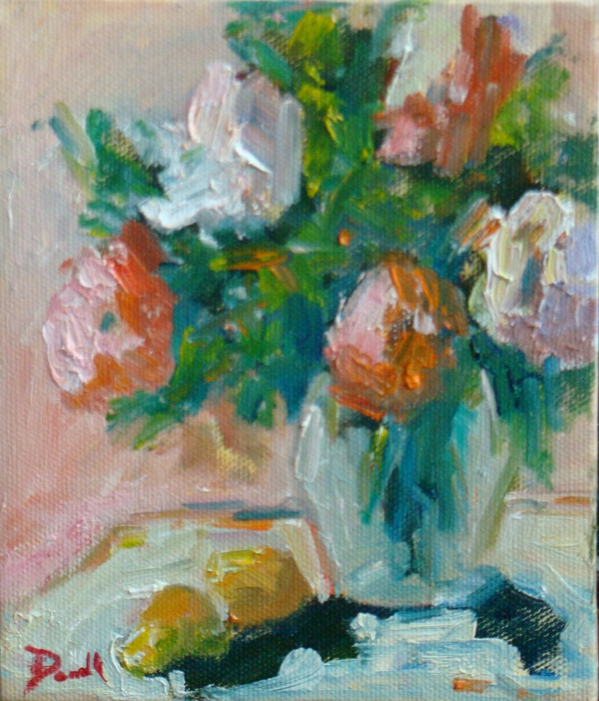"""Soft Flowers"" original fine art by Debbie Dowdle"