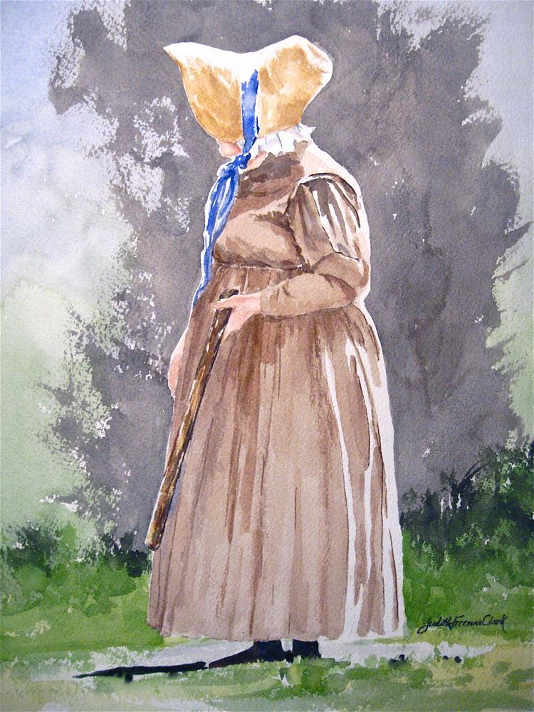 """1800's style baseball"" original fine art by Judith Freeman Clark"