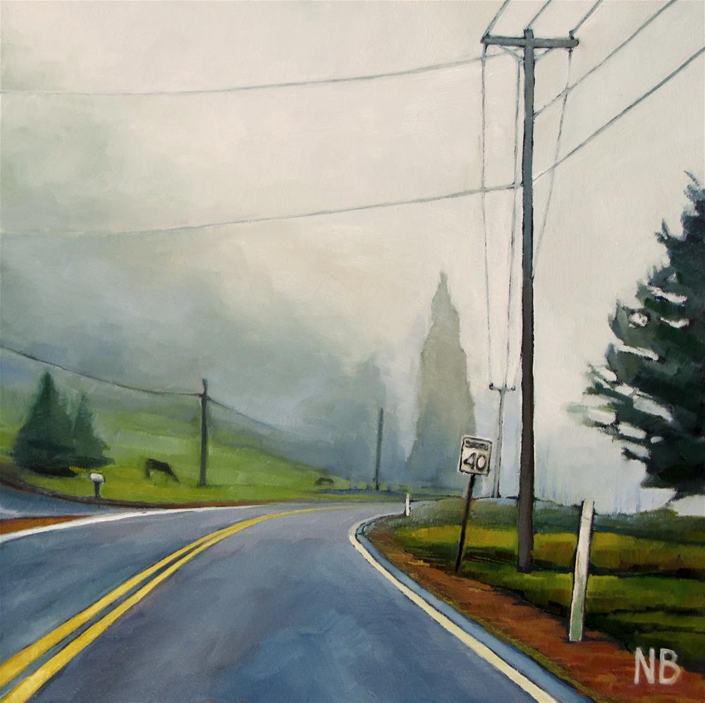 """Fog Line"" original fine art by Nora Bergman"