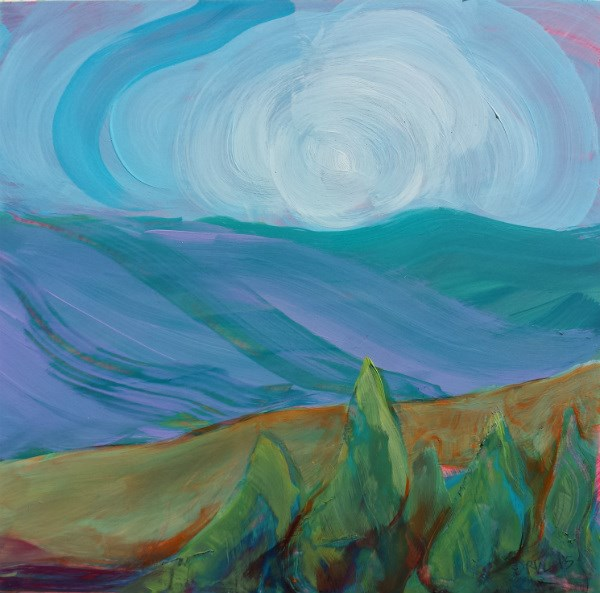 """Valley Morning 35"" original fine art by Pam Van Londen"