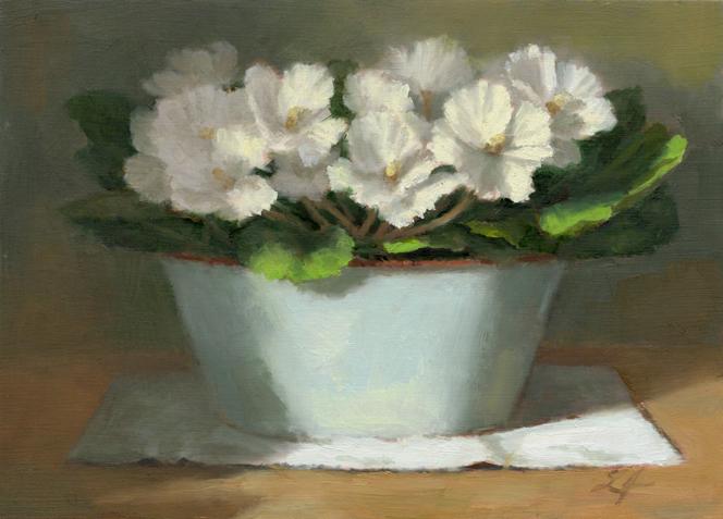 """Full Bloom"" original fine art by Linda Jacobus"