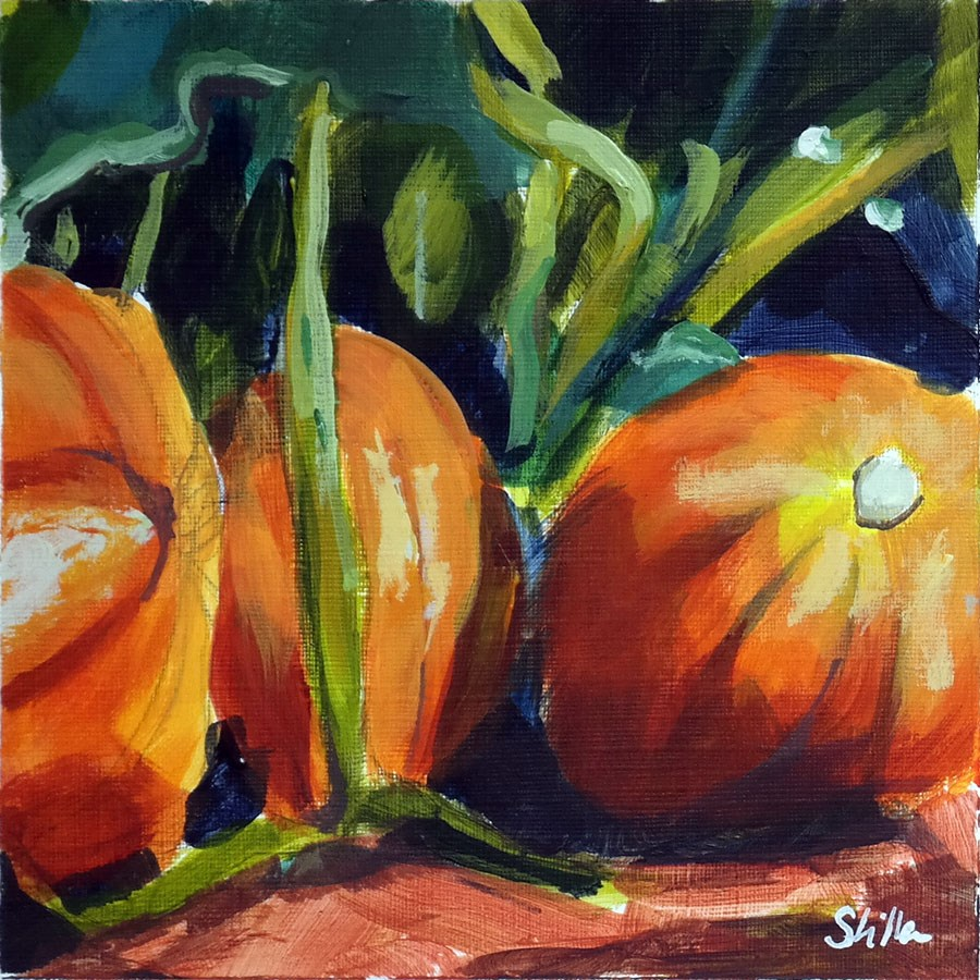 """1871 Pumpkin Time"" original fine art by Dietmar Stiller"