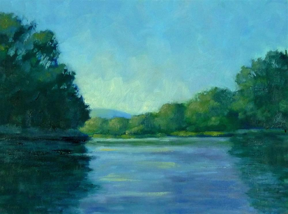 """River Blues"" original fine art by Lisa Kyle"