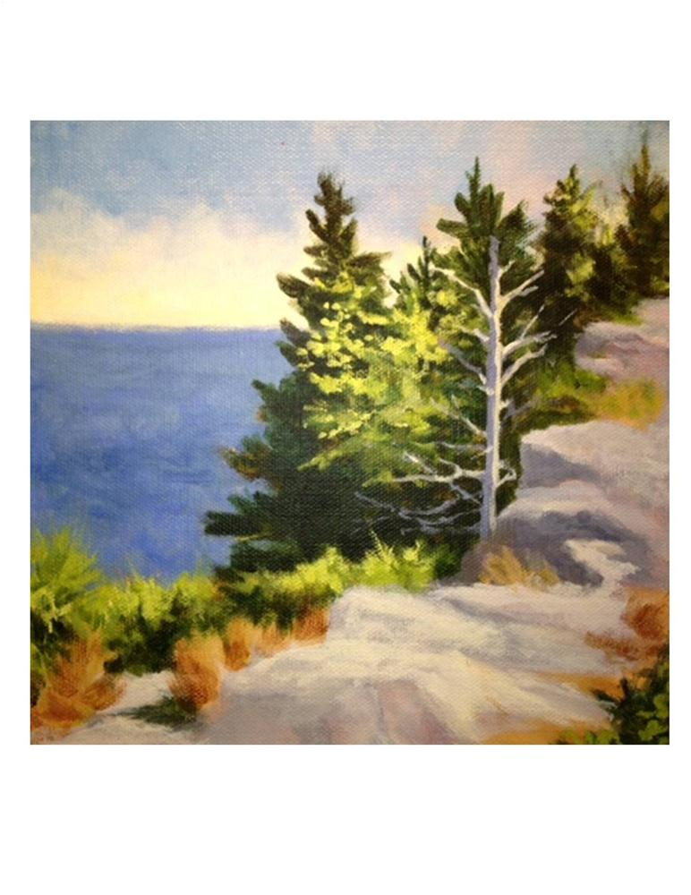"""Monhegan Desolation"" original fine art by Suzanne Woodward"