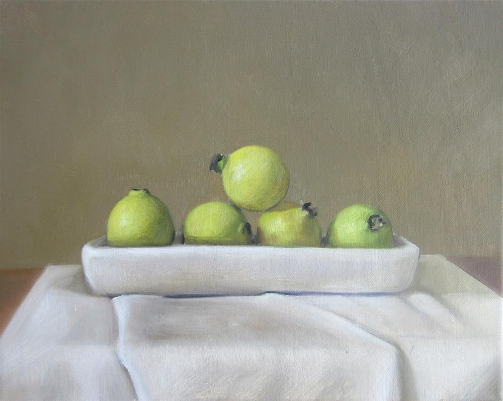 """Five Guavas"" original fine art by Naomi Hughes"