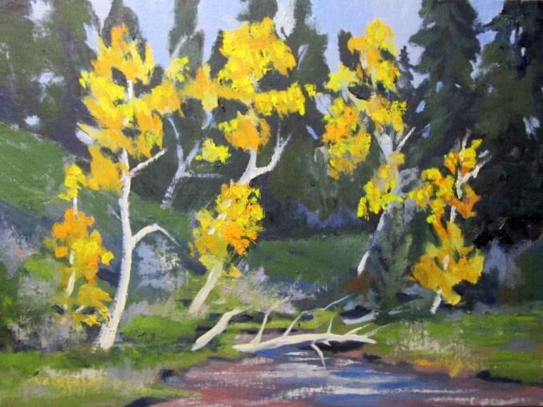 """Aspens"" original fine art by Norm Rossignol"