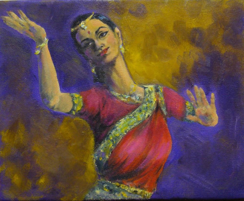 """Odissi Dancer"" original fine art by Helene Adamson"