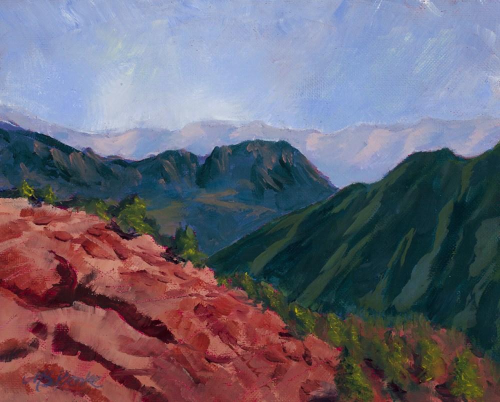 """Over the Ridge"" original fine art by Mary Benke"